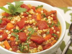 Tomato Soup with Couscous onion carrots 14-oz. can chopped tomatoes 6 ...