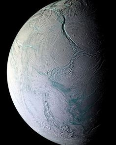 The clearest image of Saturn's sixth largest moon Enceladus ever taken. One of the top candidates for hosting alien life. Credit: NASA's Cassini Mission to Saturn