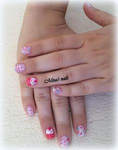sweet cup cake nails!