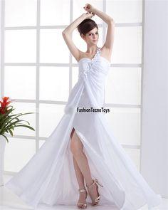 """Abito da sera """"princess""""    Bianco come la neve,per serate da principessa!Fine menifattura di primissima qualitá!!    Materiale: Chiffon"""