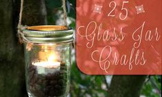 25 Ways to Reuse Glass Jars...  Did you just polish off a jar of pasta sauce or jelly? Don't toss that empty in the container! You can wash and save old glass jars for all kinds of crafty uses.