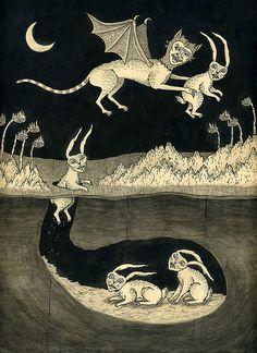 Frightening storybook illustrations--too vivid for big imaginations! (Jon…