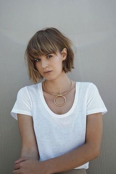 """The Raddest Haircuts To Get This Fall #refinery29 http://www.refinery29.com/2016/09/121786/fall-hairstyles-la-salons-trends#slide-15 What to ask for: A chin-length bob with fringe.This sharp bob gets a lived-in feel thanks to an even length and imperfect, heavy bangs. To score this style, ask your stylist to cut your hair to your chin, and your fringe to your eyebrows, Victoria says, noting that it is not a version of the popular A-line: """"The back is not </..."""