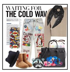"""""""❄✨"""" by williekate ❤ liked on Polyvore featuring Aquazzura, Deborah Lippmann, Ray-Ban, My Mum Made It, Yves Saint Laurent, FOSSIL, Casetify, UGG, Olympia Le-Tan and Stay Home Club"""