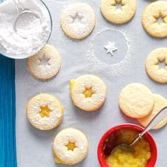 These cookies are lovely as they are, but I'll sometimes use a light-colored sanding sugar for the top: First, lightly brush the top cookie with cream, then sprinkle with sanding sugar. This can be done before or after placing the cookie on top of the filling. —Lorraine Caland, Shuniah, Ontario