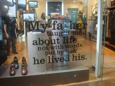 Father Display Windows   Lovely Father's Day window display that could be turned into a great ...