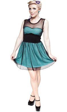 Mary Lu Dress Blue by Sourpuss Clothing