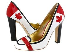 DSquared² Multicolor Canadian Flag Shoes I want these for Canada day haha Navy Pumps, Pumps Heels, Stiletto Heels, High Heels, Kate Und William, Canadian Things, Happy Canada Day, O Canada, Walk This Way