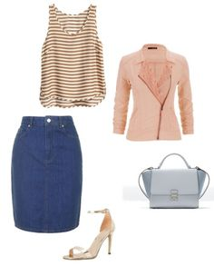 Blouse H&M Skirt  Topshop Jacket Mango Bag  Zara Shoes Aldo