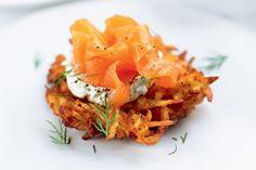 Potato rosti with smoked salmon main image