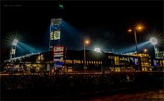 IJsseldelta stadium, home of PEC Zwolle. Zwolle, the Netherlands Travel Around, Beautiful World, Times Square, Country, Night, Twitter, City, Gem, Pictures