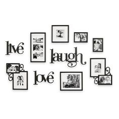 Wall Verbs 10-Piece Live Laugh Love Wall Collection - Bed Bath & Beyond