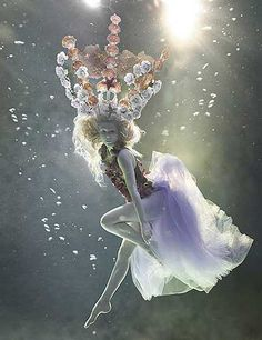 Underwater fashion story for How to Spend it magazine