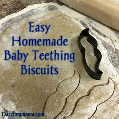 Easy Homemade Banana Oatmeal Teething Biscuits. Easy  ingredients, simple to make, and deliciously healthy for baby.