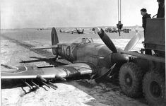 World War II fighter aircraft Ww2 Aircraft, Fighter Aircraft, Military Aircraft, Fighter Jets, Hawker Tempest, Hawker Typhoon, Photo Avion, The Spitfires, Airplane Art