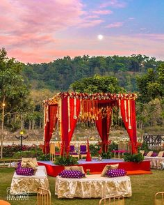 Looking for latest Outdoor Wedding Decorations? Check out the trending images of the best Indian Outdoor Wedding Decoration ideas. Desi Wedding Decor, Wedding Stage Decorations, Wedding Mandap, Wedding Ideas, Trendy Wedding, Wedding Venues, Wedding Dresses, Destination Wedding, Wedding Bride