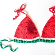 Watermelon crochet bikini                                                                                                                                                                                 Más
