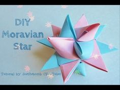 ▶ How to - Moravian German Star Tutorial Paper Weaving - Paper Origami Star / July 4th Crafts - YouTube