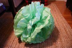 How To Make Those Tissue Pompoms