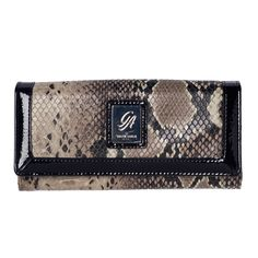Grace Adele Contrast-Python Wallet  LIMITED!   www.BagYourStyle.com  Never leave home without it!   #graceadele #wallet #python