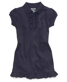 Nautica Kids Dress, Little Girls Uniform Polo Dress - Kids Girls 7-16 - Macy's