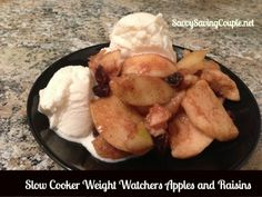 #Weightwatchers #apples  Slow Cooker Apples & Raisins! Super delicious & LOW FAT!!