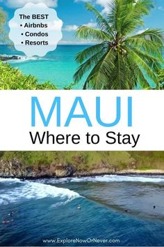 Wondering where to stay in Maui? This in-depth accommodation guide has you covered! Get the pros and cons of staying in South Maui, West Maui, Road to Hana, Upcountry or Central Maui + Things to do in each area and the BEST resorts, hotels, condos and Airbnbs! Where to stay in Maui | best Maui resorts | Airbnbs in Maui | Things to do in Maui | Maui accommodation guide | Maui travel guide Hotels In Maui Hawaii, Best Hawaii Resorts, Trip To Maui, Maui Vacation, Resorts In Maui, Best Hotels In Maui, Hawaii Hawaii, Vacation Travel, Vacations