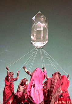 crystal ritual #collage #surreal - Carefully selected by GORGONIA www.gorgonia.it