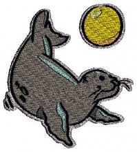 Seal Playing embroidery kits on ebay