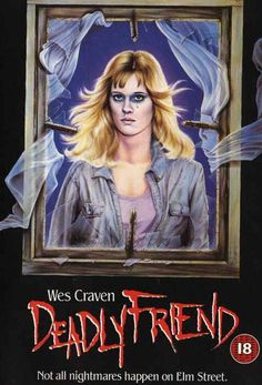 Deadly Friend movie vhs cover-he loved that girl. The end messed me up Horror Movie Posters, Movie Poster Art, Horror Movies, Slasher Movies, Film Posters, Halloween Movies, Scary Movies, 80s Movies, Horror Fiction