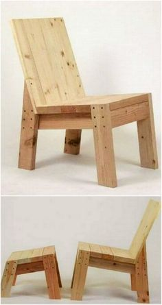 DIY- Pallet Made Wooden Objects For A Lavish Home diy wooden pallet chair Wooden Pallet Projects, Diy Pallet Furniture, Wooden Pallets, Wooden Diy, Wood Furniture, Pallet Sofa, Pallet Chairs, Furniture Dolly, Cheap Furniture