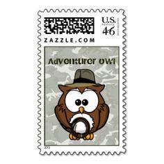 adventurer owl stamp