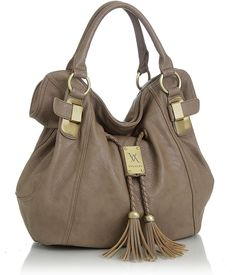 Purse Boutique: Taupe Oversized ''Savitha'' Hobo Vitalio Handbags, Purses and other apparel, accessories and trends. Browse and shop 8 related looks. Prada Handbags, Handbags Michael Kors, Tote Handbags, Purses And Handbags, Couture Handbags, Ladies Handbags, Cheap Handbags, Coach Handbags, Fashion Bags