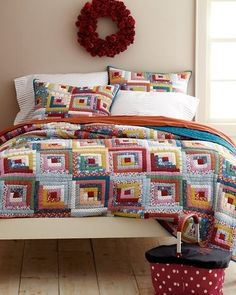 6. Hideaway Log Cabin Quilt | 53 Quilts To Eye, Create, Or Buy