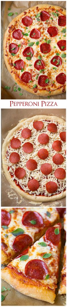 Pepperoni Pizza (Homemade Dough and Pizza Sauce Recipes)