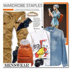 """Wardrobe Staple: White T - Shirt"" by svijetlana ❤ liked on Polyvore featuring Hush Puppies, Closed, Nudie Jeans Co., Shinola, Nikon, men's fashion, menswear and WardrobeStaple"