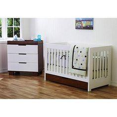 Baby Mod - ParkLane Baby Convertible Crib, Amber and White