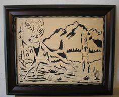 Scroll saw pattern Deer #13