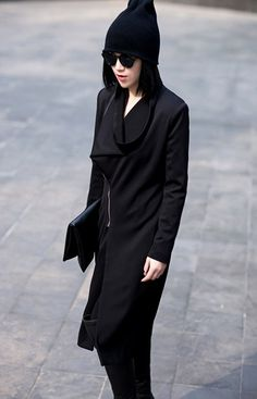 goth ninja / minimalist / monochromatic /