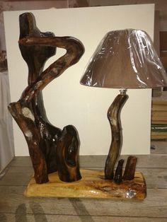 "Driftwood light ""Στρουμφοχωριό"""
