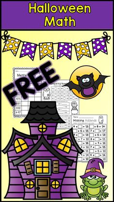 Advanced students Halloween math for second grade--FREE math--missing addends, mental math, comparing numbers, ordering numbers, and much Halloween Math Worksheets, First Grade Math Worksheets, Second Grade Math, Halloween Activities, Holiday Activities, Grade 2, Free Worksheets, Printable Worksheets, Free Printables