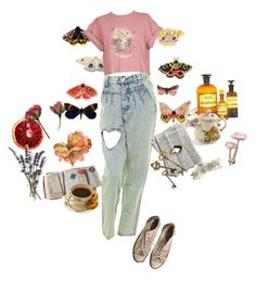 """Untitled #12"" by shenzi-uni ❤ liked on Polyvore featuring Converse and Bullet"