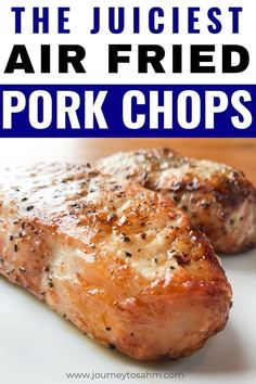 Recipes On The Go How to make a simple and easy air fryer pork chops boneless recipe. You can use thin or thick cut pork chops with just a little seasoning to make this delicious main dish meal for families. Just look at that healthy keto recipe! Air Fryer Recipes Breakfast, Air Fryer Oven Recipes, Air Frier Recipes, Air Fryer Dinner Recipes, Air Fryer Recipes For Pork Chops, Recipes Dinner, Air Fryer Recipes Chicken Thighs, Power Air Fryer Recipes, Air Fryer Recipes Potatoes
