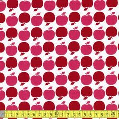 Michael Miller Fabric APPLE DOT PINK FQ Fruit Pattern Apples Sweet Retro Kids | eBay