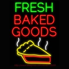 Fresh Baked Goods Neon Sign Signage Board Neon Bulbs Real GlassTube Handcrafted Decorate Window Display Super Bright Sign 31x24 #Affiliate
