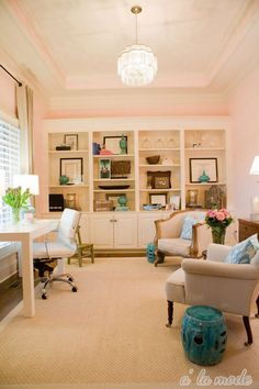alamode: Home Tour - love this office and color and everything about it
