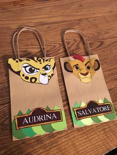 Lion Guard favor bags