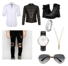 """Apophis"" by abigail-jane-gouldie on Polyvore featuring Stone Rose, Dolce&Gabbana, Dark Future, Timberland, Daniel Wellington, West Coast Jewelry, Reclaimed Vintage, Ray-Ban, men's fashion and menswear"