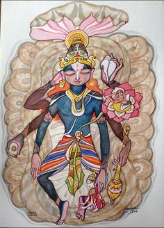 Lord Shri Krishna is one of the human avatar/incarnation of THE DIVINE LORD Shri Vishnu. by Keshav61 Via Twitter.