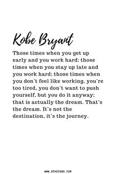 Kobe Bryant has always been an inspiration all over the world and will always be known as the man who lived to the fullest. Here are life lessons from Kobe. Monday Quotes, Up Quotes, Sport Quotes, Wisdom Quotes, Strong Quotes, Qoutes, Kobe Quotes, Kobe Bryant Quotes, Confucius Quotes
